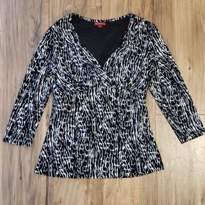 Merona Control Top Blouse V Neck Animal Print Top